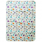 JoJobebe Owl Mini Waterproof Sheet Protector for babys, Portable Changing Pad 90cm x 60cm