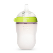 Comotomo Silicone 240ml Baby Bottle - Green 2PC