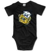 Unisex Baby Michigan Wolverines Logo Baby Onesies Short Sleeve Bodysuit
