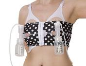 PumpEase hands-free pumping bra - Galaxie Black - M