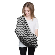 Baby Nursing Cover SWEETBB Baby Feeding Cover, Nursing Infinity Scarf for Breastfeeding-Black