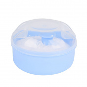 crownroyaljack Baby Powder Puff Box Face Body Makeup Cosmetic Soft Villus Kit,Blue