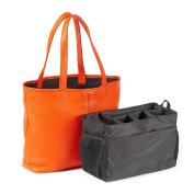Downtown Nappy Bag - Full Grain Leather - Orange