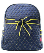 Blue Heron Navy/Gold Theme Quilted 33cm Backpack