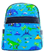 Blue Heron Dinosaur Theme Quilted 33cm Backpack