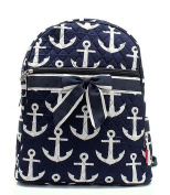 Blue Heron Anchor Theme Quilted 33cm Backpack