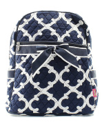 Blue Heron Geometric Theme Quilted 33cm Backpack