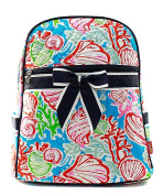 Blue Heron Coral Reef Theme Quilted 33cm Backpack