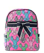 Blue Heron Lobster Theme Quilted 33cm Backpack