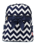 Blue Heron Chevron Theme Quilted 33cm Backpack