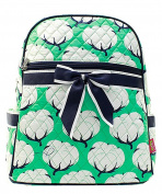 Blue Heron Cotton Fields Theme Quilted 33cm Backpack
