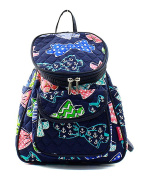 Blue Heron Bow Tie Theme Quilted 33cm Backpack