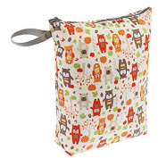 Blueberry Waterproof Zippered Nappy Wet Bag - Harvest Bears