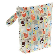 Blueberry Waterproof Zippered Nappy Wet Bag - Night Owls