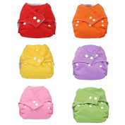 7 Pcs Baby Infant Reusable Cloth Nappy Adjustable Washable Nappies Cover Solid