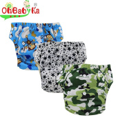 Ohbabyka Baby Training Pants,baby nappies waterproof Pants for 1-3Years old 3PCS Pack