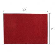 Mega Crafts - 41cm x 60cm Metallic Glitter EVA Foam Craft Sheet - Set of 6, Red