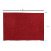 Mega Crafts - 41cm x 60cm Metallic Glitter EVA Foam Craft Sheet - Set of 6, Red