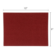 Mega Crafts - 23cm x 30cm Metallic Glitter EVA Sticky Foam Craft Sheet - Set of 6, Red