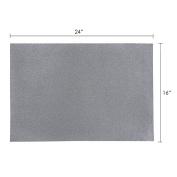 Mega Crafts - 41cm x 60cm Metallic Glitter EVA Sticky Foam Craft Sheet - Set of 6, Silver