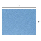 Mega Crafts - 23cm x 30cm Metallic Glitter EVA Sticky Foam Craft Sheet - Set of 6, Turquoise