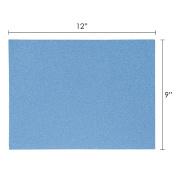 Mega Crafts - 23cm x 30cm Metallic Glitter EVA Sticky Foam Craft Sheet - Set of 6, Turquoise