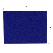 Mega Crafts - 23cm x 30cm Metallic Glitter EVA Sticky Foam Craft Sheet - Set of 6, Blue