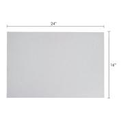 Mega Crafts - 41cm x 60cm Metallic Glitter EVA Foam Craft Sheet - Set of 6, White