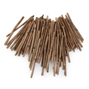 WINOMO 100pcs Wood Log Sticks for DIY Crafts 10CM Long 0.3-0.5CM in Diameter