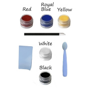"8pc Natural Face Paint Set ""Vampire Goth Clown"" Halloween DYE-free VEGAN Costume Makeup Kit"