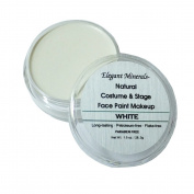 Lrg 30ml White Natural Face Paint Makeup Jar