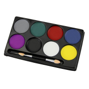 Face Paint Palette Kit for Kids 8 Colour Body Painting Art Party Fancy Make Up Set Safe Non-Toxic Water Based