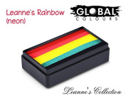Global Body Art Face Paint - FunStroke Leanne's Rainbow (Neon) LC 30gr