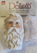 MANGELSEN'S Craft PORCELAIN 'SANTA' Doll HEAD 7.6cm - 1.3cm (Pack SIZE) and PAIR of HANDS Each 5.1cm - 1.3cm Long