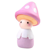 Mushroom Doll Girl Cute Miniature Resin Crafts Micro Landscape Decor Succulents-Pink