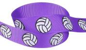 HipGirl 2.2cm Volleyball Grosgrain Ribbon (20yd or
