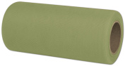 Tulle Olive Ribbon, 15cm x 25 Yds (3 Rolls) - BOWS-280-0625-64