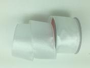 Celebrate IT- Ribbon Bow-tique- Christmas white -Wired Plaid linen ribbon 6.4cm x 7.6m