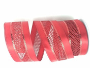 Celebrate IT- Ribbon Bow-tique- Christmas RED -Wired Plaid linen ribbon 6.4cm x 7.6m