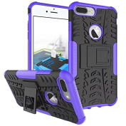 iPhone 7 Plus Case,ARSUE Shockproof Dual Layer Hybrid Armour Defender Protective Case Cover with Kickstand for Apple iPhone 7 Plus (2016) - Purple