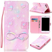iPhone 7 Case,ARSUE [Stand Feature] PU Leather Folio Wallet Flip Case Cover [Card Slots] for Apple iPhone 7 2016
