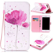 iPhone 7 Case,ARSUE Lotus PU Leather Protective Flip Wallet Case [Slim Fit] with Card Slots & Stand for Apple iPhone 7 2016