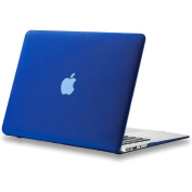 Kuzy - AIR 33cm NAVY BLUE Rubberized Hard Case for MacBook Air 34cm (A1466 & A1369) (NEWEST VERSION) Shell Cover - Navy Blue