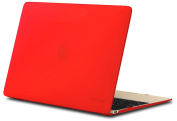 Kuzy - Retina 30cm RED Rubberized Hard Case for MacBook 30cm with Retina Display A1534 (NEWEST VERSION) Shell Cover - RED
