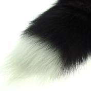 43cm thick faux fake Fox Fur Tail Keychain Tassel Bag Handbag Pendant Accessory Purse