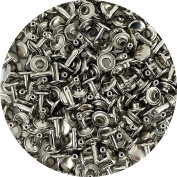 Springfield Leather Company's Nickel Plate Medium Double Cap Rivets 50pk