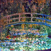 "Mosaic Art - ""Water Lily Pond"" Monet"