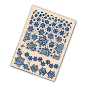 Tattered Lace Set of 4 Embossing Folders -- Delicate Snowflake Set EF007