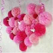 Sorive Set of 40 (Assorted Size / Colour Pack) 10cm 15cm 20cm 25cm 30cm 36cm Tissue Pom Poms Flower Party Decorations for Weddings, Birthday, Bridal, Baby Showers Nursery Déco