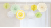 Sorive 9Pcs Party Decoration Kit/Set Tissue Paper Honeycombs/Paper Fans/Tissue Paper Pom Poms/ paper lantern Birthday Wedding Party